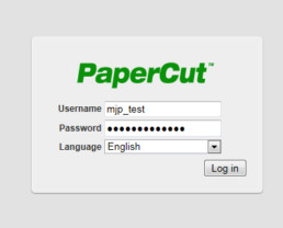 PaperCut | Interface de Administração Web - Login