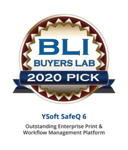 YSoft SafeQ 6, A BLI Pick Award Winner